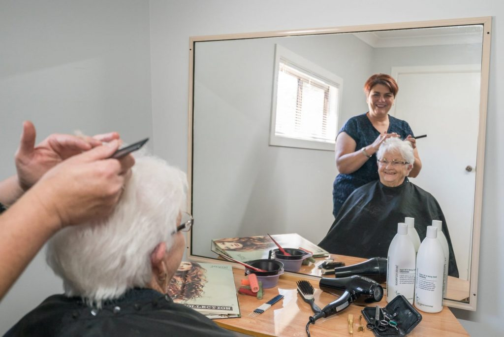 Activities and services such as salons