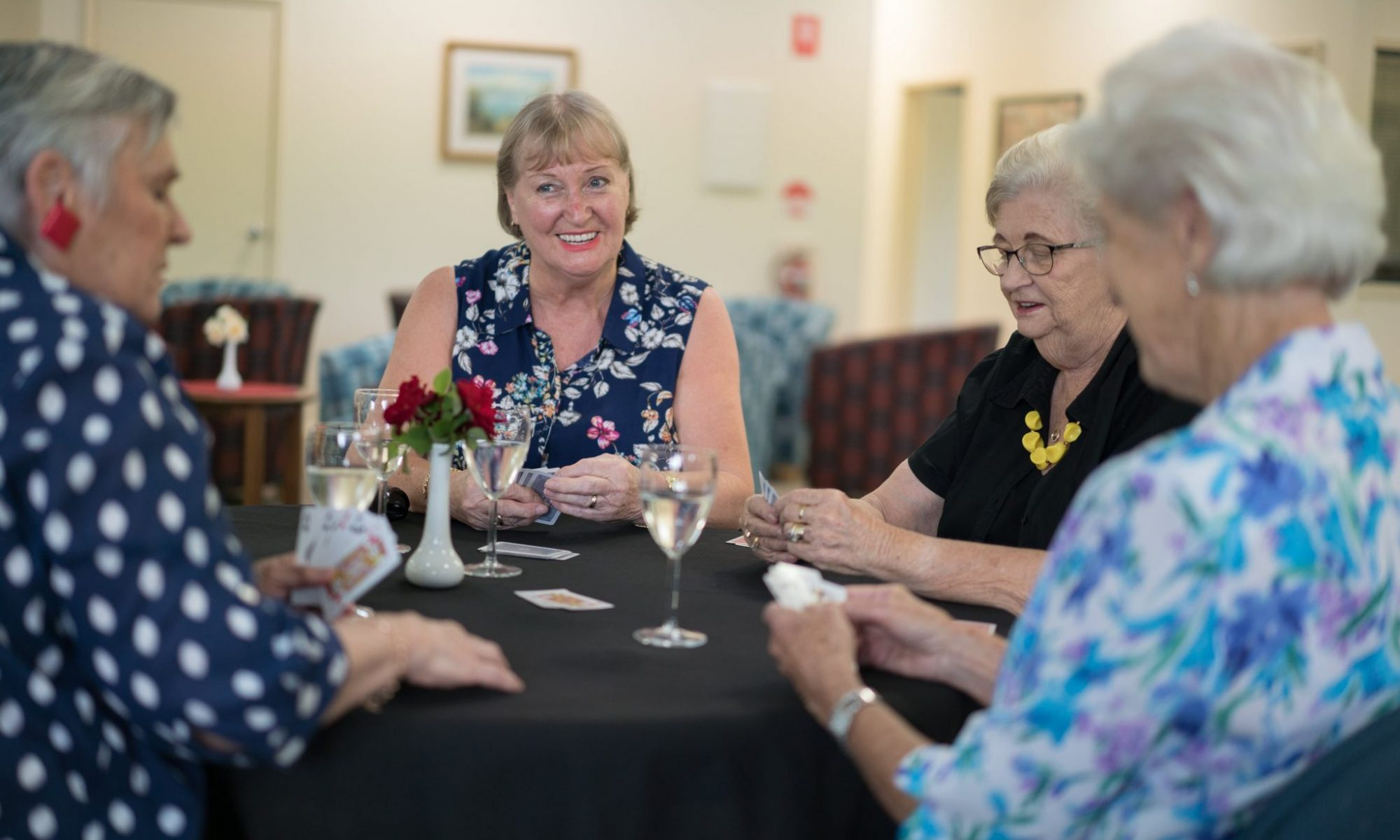 In-village activities including cards with new friends at Park Hall Village Wodonga - Wodonga-00442