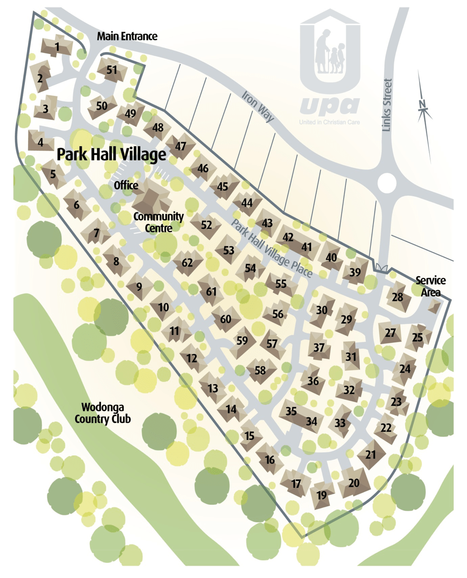 Lot map - Wodonga – Park Hall Village
