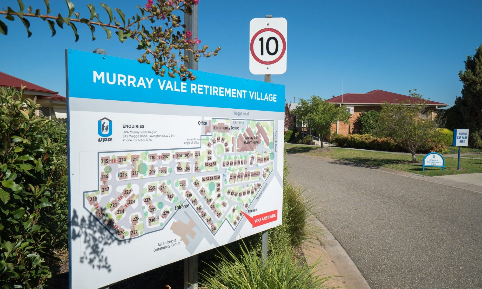 Murray Vale Retirement Village entrance street map - Lavington-00108