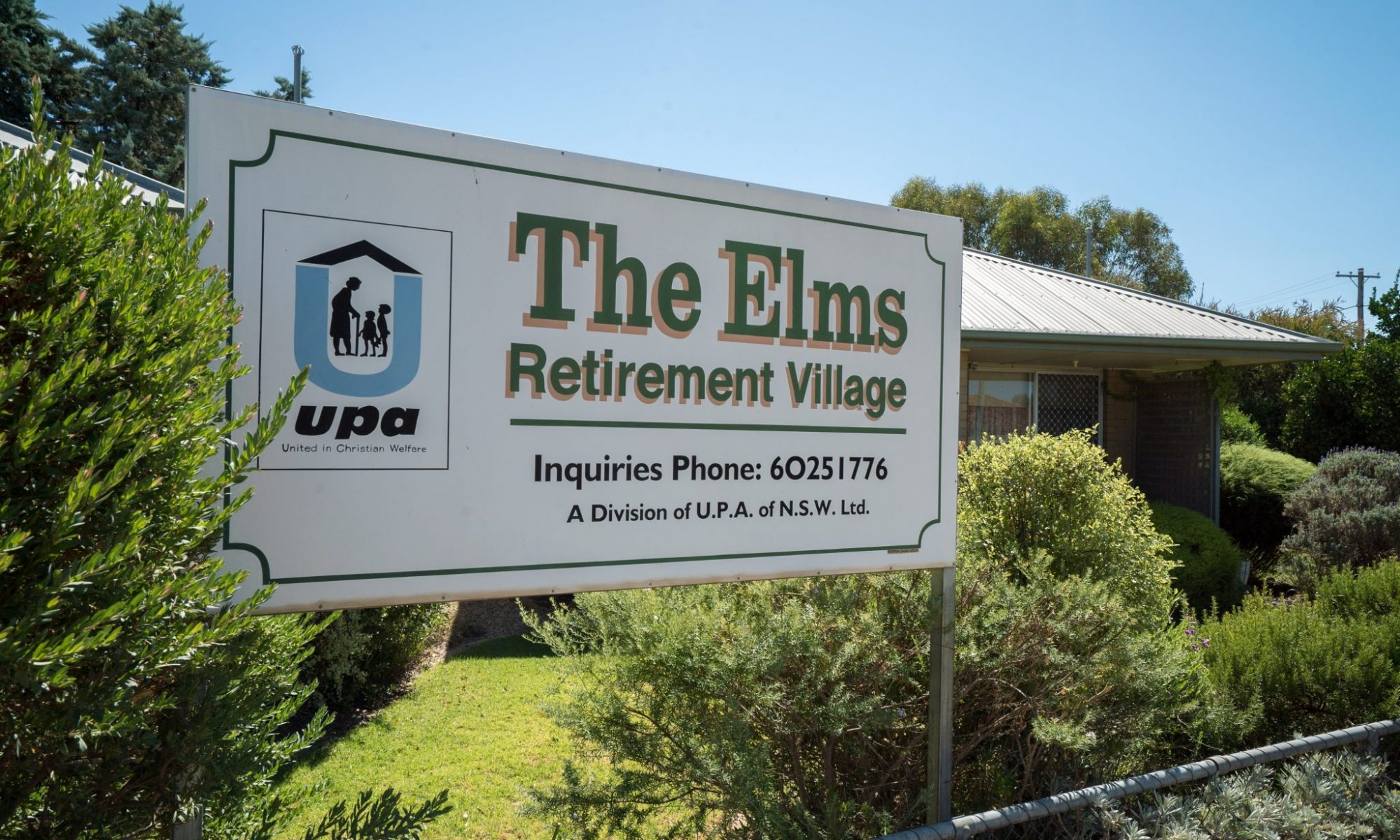 The Elms Retirement Village in Culcairn - entrance billboard - Culcairn-00118